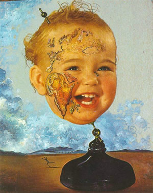Baby Map of the World. Autor  Salvador Dali ( 1939)