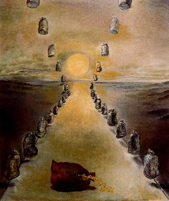 salvador dalí (1904-1989)-el camino del enigma (primera versión) óleo sobre lienzo-65,5cm x 54,1cm-museo reina sofía