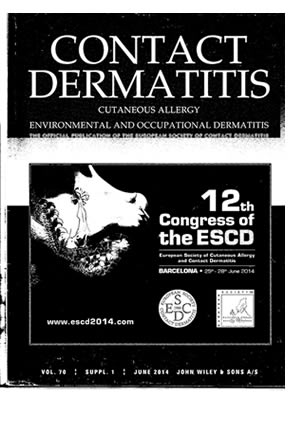 "portada de la revista ""Contact Dermatitis"""