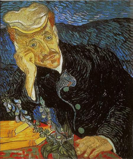 Retrato del Dr. Gachet; oleo sobre tela de Vincet van Gogt _ pintor holandes