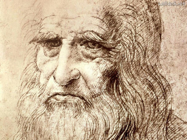Autoretrato de Leonardo Da Vinci, en sus últimos años.