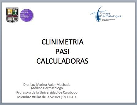 Clinimetr a pasi calculadoras piel l latinoamericana for Calculadora pasi